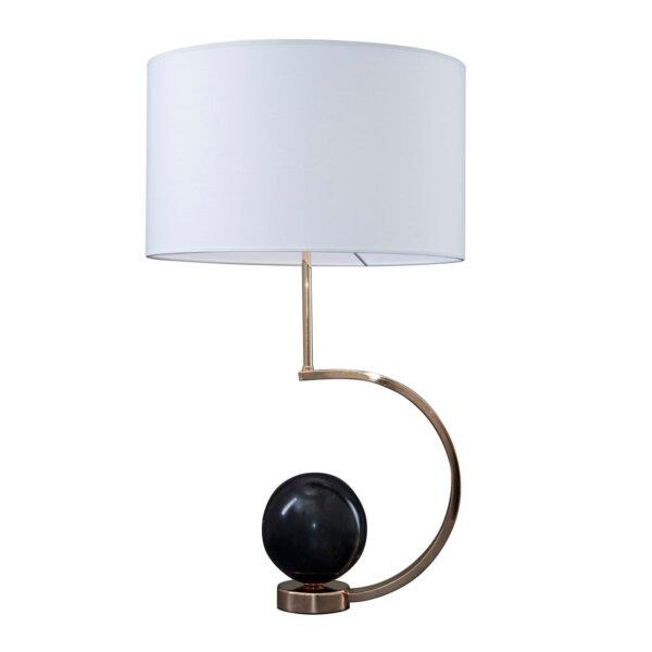 LAMPA STOŁOWA STATTO SREBRNA ALMIDECOR