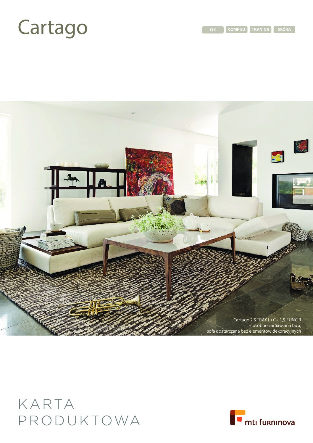 Sofa Cartago 2,5  MTI Furninova