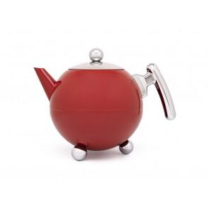 Teapot Duet® Bella Ronde 1.2L, Red Chrome