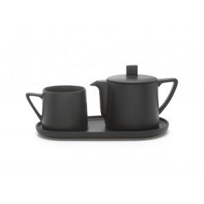 Tea-for-one set Lund, black