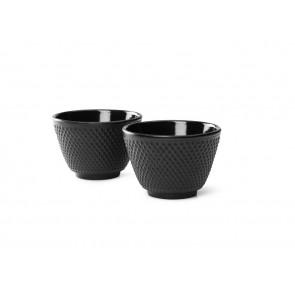 Tea mugs Xilin, black, set of 2
