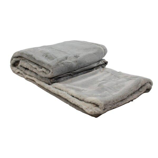 Pled Soft Grey 220 x 240 cm