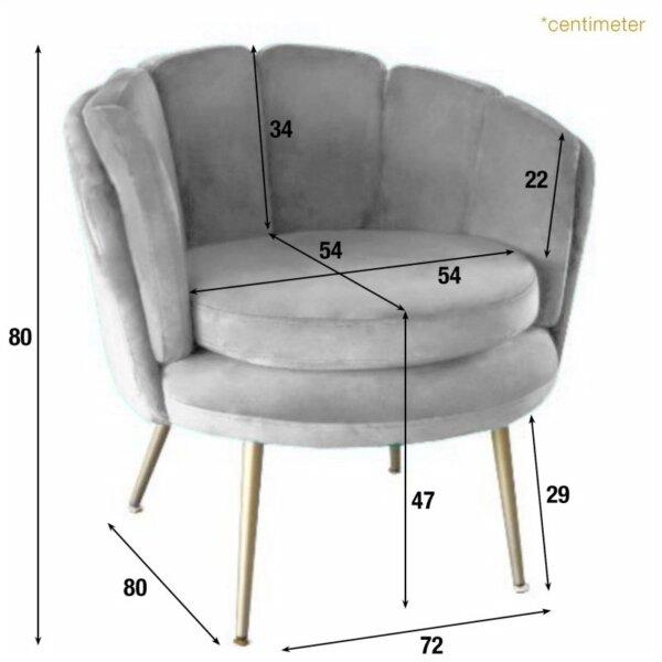 Fotel Danelle Yellow