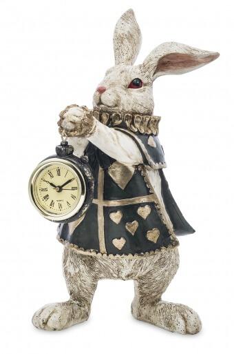 Figurka Królik z zegarkiem