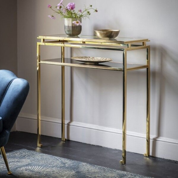 Konsola Cosenza Gold 90 cm