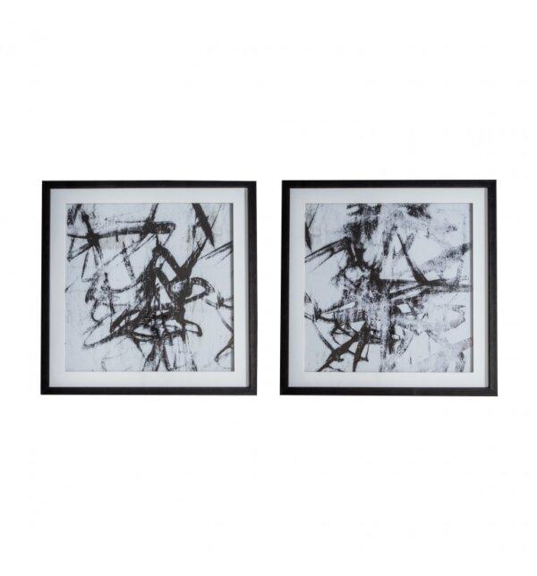 Fotografia w ramie Monochrome Abstract set of 2