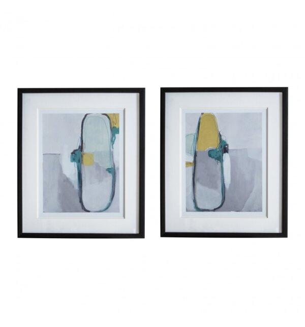 Fotografia w ramie Nordic Abstract set of 2