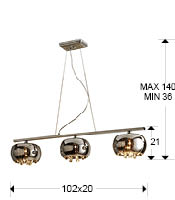Argos lampa wisząca 3 L Schuller