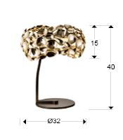 Narisa Lampa stołowa 3 L Schuller