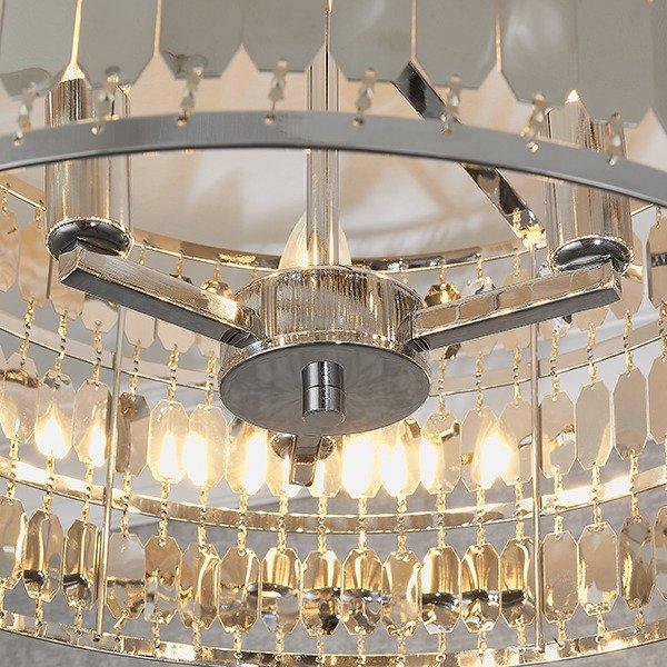Endon Eldora 3 Plafoniera chromowa w stylu glamour
