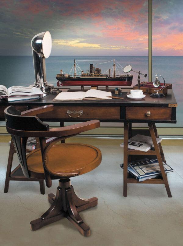 Stylowe biurko w stylu vintage Navigator by Authentic Models