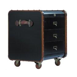 Elegancka komoda / kufer czarny mały Stateroom by Authentic Models